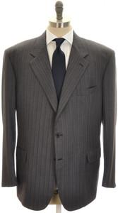 Brioni Suit 'Palatino' 3B Wool 150's 52 62 Gray Blue Stripe 03SU0211