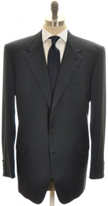 Brioni Suit 'Palatino' Wool 48L 58L Blue Solid
