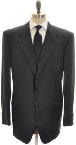 Brioni Suit 'Palatino' Wool 48L 58L Blue Solid 03SU0219