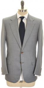 Brioni Suit 'Palatino' Wool Silk 38 48 Blue Micro Birdseye