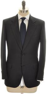 Brioni Suit 'Palatino' Wool Silk Cashmere 38 48 Dark Blue Neat 03SU0217