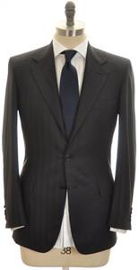 Brioni Suit 'Palatino' Wool 150's 36 46 Gray Blue Stripe 03SU0214