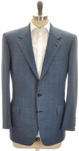 Brioni Sport Coat Jacket 'Palatino' Wool 46 56 Blue Brown 03SC0122