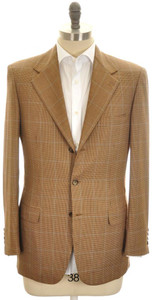 Brioni Sport Coat Jacket 'Palatino' Escorial 38 48 Brown Blue