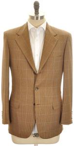 Brioni Sport Coat Jacket 'Palatino' Escorial 38 48 Brown Blue 03SC0130
