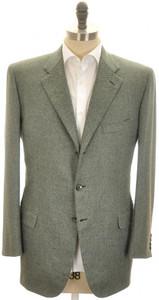 Brioni Sport Coat Jacket 'Pincio' Cashmere 43 53 Green Tweed 03SC0128