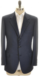 Brioni Sport Coat Jacket 'Senato' Cashmere 40 50 Blue Check 03SC0127