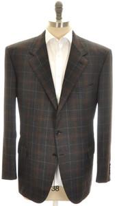 Brioni Sport Coat Jacket 'Palatino' Wool 48 58 Gray Brown 03SC0136
