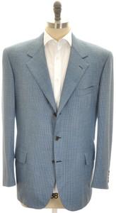 Brioni Sport Coat Jacket 'Palatino' Wool 46 56 Blue Green 03SC0137