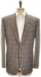 Brioni Sport Coat Jacket 'Palatino' Wool Blend 46 56 Gray Purple