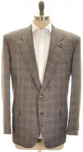 Brioni Sport Coat Jacket 'Palatino' Wool Blend 46 56 Gray Purple 03SC0135