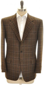 Brioni Sport Coat Jacket 'Palatino' Wool Cashmere 42 52 Brown