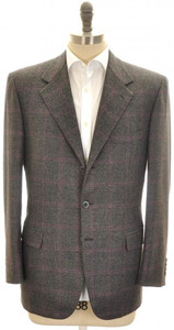 Brioni Sport Coat Jacket 'Palatino' Wool 42 52 Gray Purple