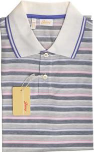 Brioni Polo Shirt Fine Knit Cotton Large Purple Pink 03PL0148