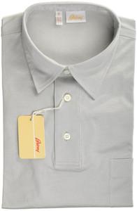Brioni Polo Shirt Fine Knit Cotton Large Gray 03PL0139