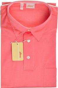 Brioni Polo Shirt Fine Cotton Large Pink 03PL0177