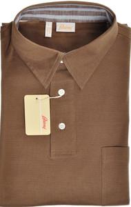 Brioni Polo Shirt Fine Cotton Large Brown 03PL0176