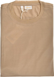 Brioni T-Shirt Extra Fine Cotton Large Brown 03TS0128
