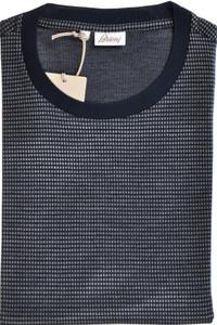 Brioni T-Shirt Extra Fine Cotton Silk XLarge Navy Blue Gray 03TS0121