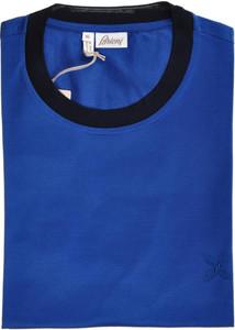 Brioni T-Shirt Extra Fine Cotton B logo 3XLarge Blue