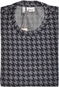 Brioni T-Shirt Extra Fine Cotton Large Gray