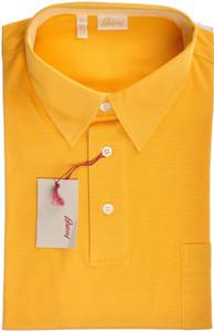 Brioni Polo Shirt Fine Cotton Large Yellow 03PL0191