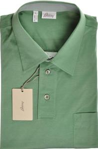 Brioni Polo Shirt Fine Cotton Large Green 03PL0190