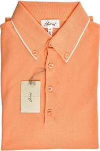 Brioni Polo Shirt Fine Cotton Small 48 Orange 03PL0201