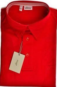 Brioni Polo Shirt Fine Cotton Large Red 03PL0200