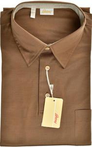 Brioni Polo Shirt Fine Cotton Large Brown 03PL0199