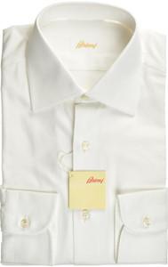 Brioni Dress Shirt Cotton 14 1/2 37 White 03SH0402