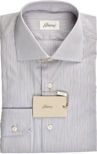 Brioni Dress Shirt Superfine Cotton 15 1/2 39 Purple Blue 03SH0498