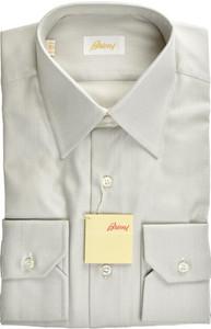 Brioni Dress Shirt Superfine Cotton 15 38 Gray 03SH0491