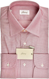 Brioni Dress Shirt Fine Cotton 15 3/4 40 Plum-Purple 03SH0490