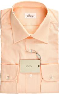 Brioni Dress Shirt Superfine Cotton 15 3/4 40 Orange 03SH0486