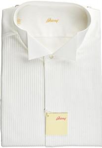 Brioni Formal Tuxedo Dress Shirt Superfine Cotton 17 1/2 44 White 03SH0516