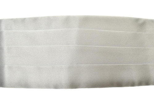 Brioni Cummerbund Silk Silver-Gray
