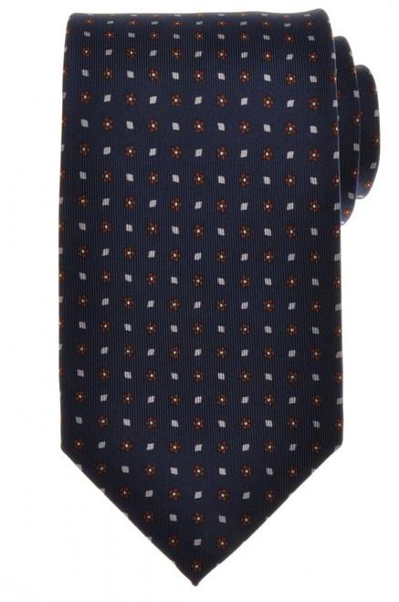 E. G. Cappelli Napoli Tie Silk 57 1/2 x 3 5/8 Blue Gray Geometric 08TI0118
