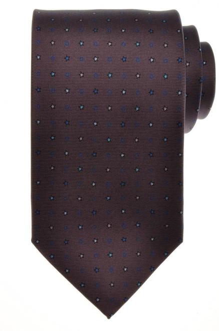 E. G. Cappelli Napoli Tie Silk 58 1/2 x 3 1/2 Gray Blue Geometric 08TI0124