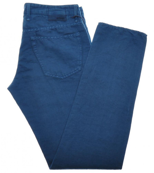 Incotex Jeans Pants ChinoLino Cotton Linen 33 49 Blue 28JN0122