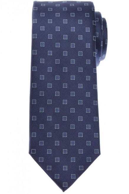Brioni Tie Silk Blue Tonal Geometric 03TI0627