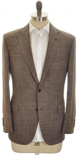 Belvest Sport Coat Jacket 2B Wool Silk Linen 42 52 Brown 50SC0234