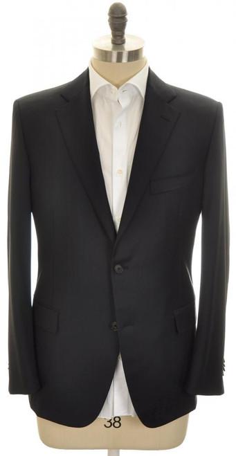 Belvest Sport Coat Jacket 2B Wool 110's 44 L 54 L Dark Blue 50SC0239