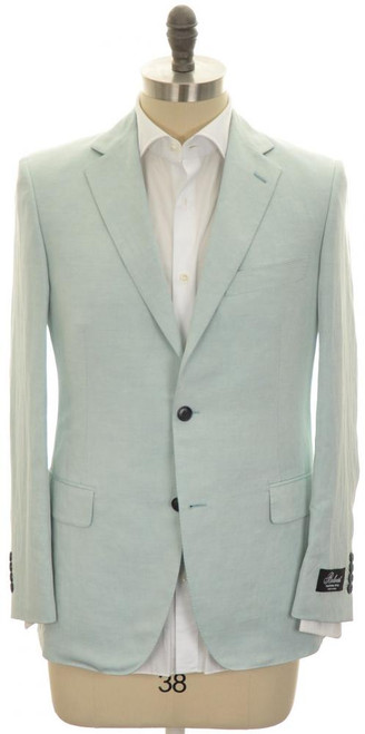 Belvest Sport Coat Jacket 2B Linen Silk Size 38 Light Blue