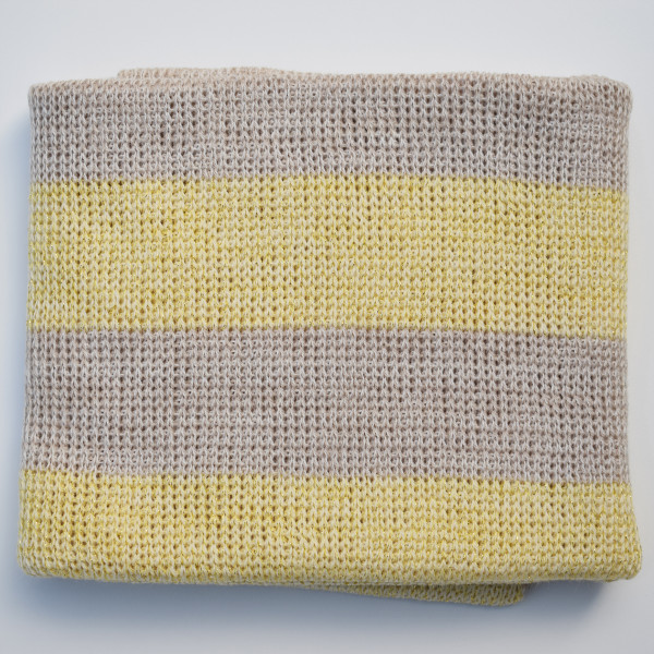 Lemon merino wool baby blanket