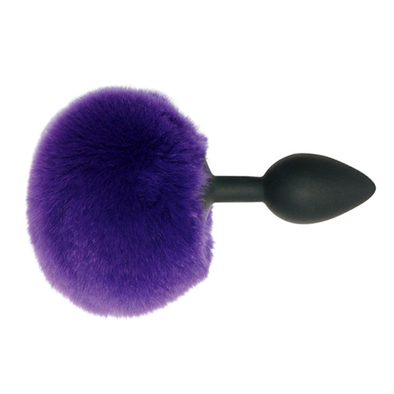 Sportsheets Midnight Silicone Butt Plug With Purple Bunny -8054