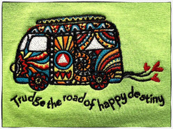 Embroidered Tshirt - Trudge the Road