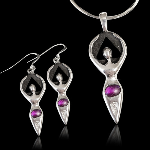 Woman in Recovery Amethyst  Set Lg