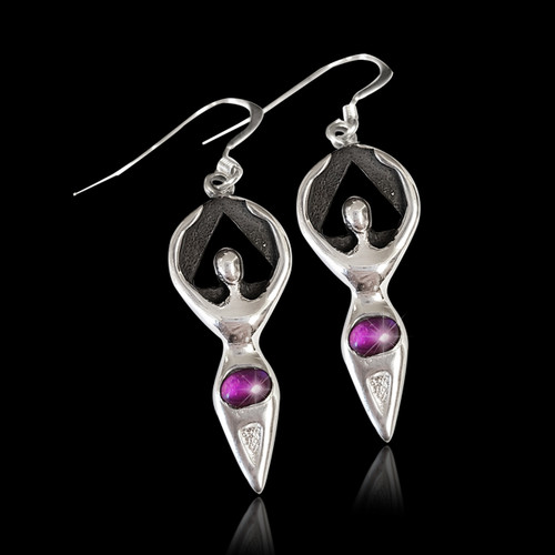 Woman in Recovery Amethyst Earrings