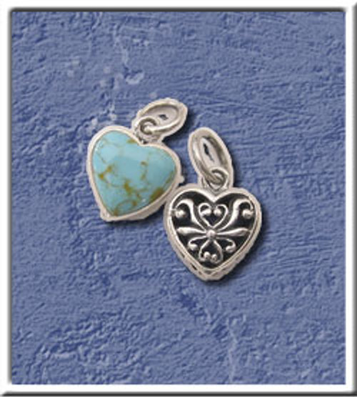 Turquoise Heart Lg